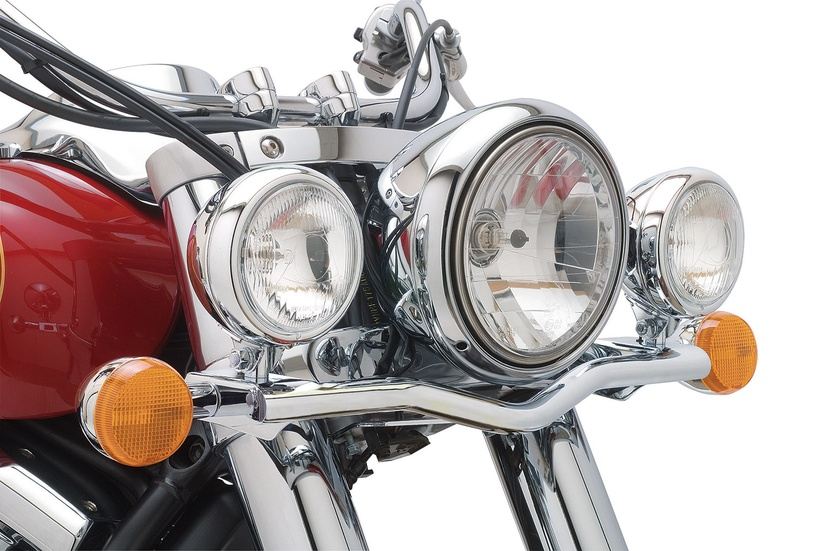 Chrome Motorcycle Headlight Bracket For Kawasaki Vulcan Classic