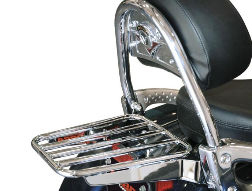 Sissy Bar Backrest Luggage Rack Pad for Kawasaki Vulcan 900 VN900 Classic Custom