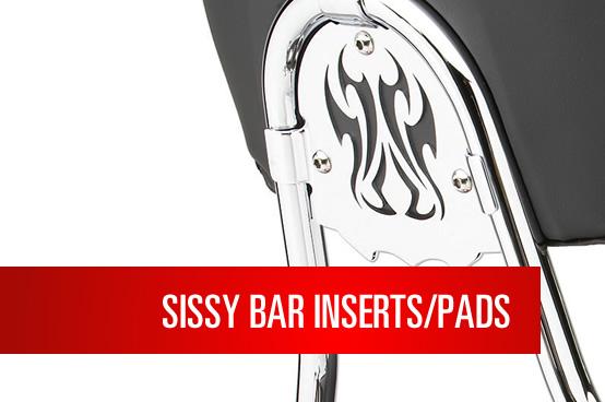 Swept Round Cobra Steel Sissy Bar Insert